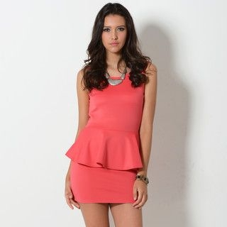 YesStyle Z - Sleeveless Bow-Back Peplum Dress