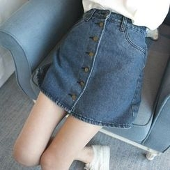 Wimi girls - Denim Buttoned Skirt