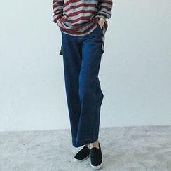 Vintage Vender - Stitched Wide-Leg Jeans