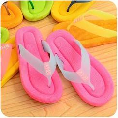 Momoi - Contrast Color Flip Flops