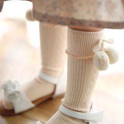 Cuckoo - Kids Bobble Cuffed Socks