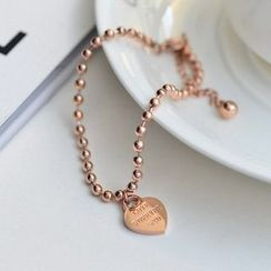 MOMENT OF LOVE - Heart Rose Gold Plated Bracelet