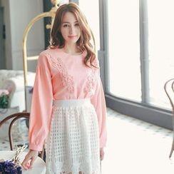 Tokyo Fashion - Lace Appliqué Blouse