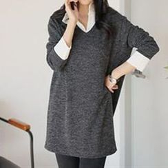 Champi - Mock Two-Piece Shirtdress