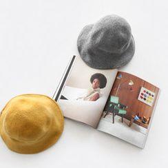 NIPONJJUYA - Inset Wire Wool Blend Knit Bucket Hat