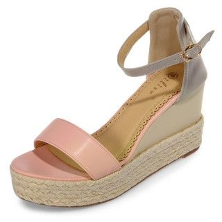 yeswalker - Two-Tone Espadrille Wedge Sandals