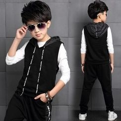 Pegasus - Kids Set : Long-Sleeve T-shirt + Hooded Vest + Sweatpants