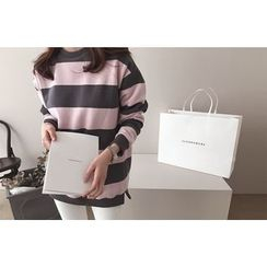 DAILY LOOK - Round-Neck Striped Pullover