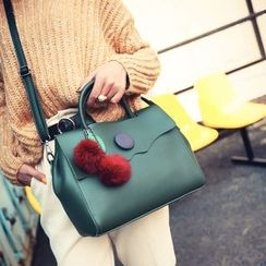 Beloved Bags - Set: Pompom Crossbody Bag + Zip Pouch
