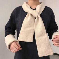 QZ Lady - Long-Sleeve Color Block A-line Dress