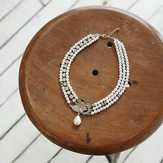 soo n soo - Bead-Charm Layered Necklace