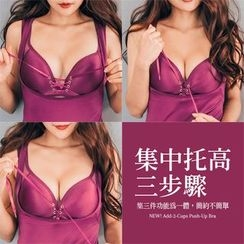PUFII - Set Lace-up Bra + Shaping Corset