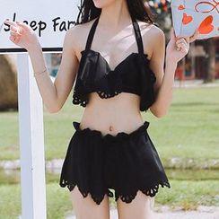 Zeta Swimwear - Scallop Trim Bikini