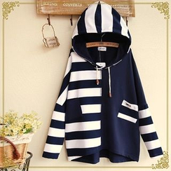 Fairyland - Striped Panel Hooded Pullover