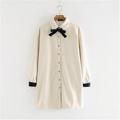 Storyland - Long-Sleeve Fleece-Lined Long Blouse