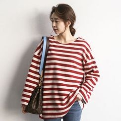NANING9 - Striped Oversized T-Shirt
