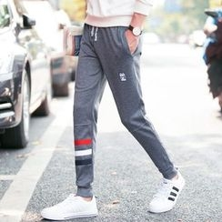 JVR - Stripe-Trim Sweatpants