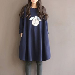 Dream Girl - Long-Sleeve A-line Thick Sweat Dress
