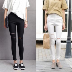 Porta - Distressed Skinny Pants