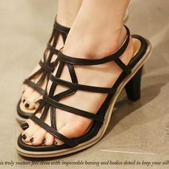 NANING9 - Faux-Leather Strap Sandals