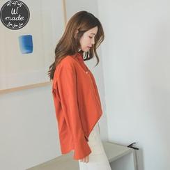 WITH IPUN - Half-Placket Pocket-Front Shirt