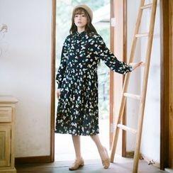 Grazia - Long-Sleeve Floral Dress