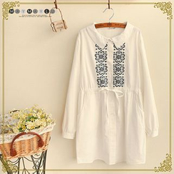 Maymaylu Dreams - Patterned Collared Tunic