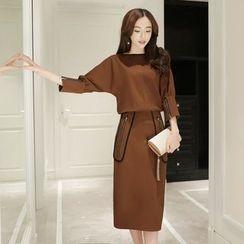 Romantica - 3/4-Sleeve Zip-Accent Dress