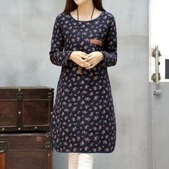 Supernova - Floral Print Long-Sleeve Dress