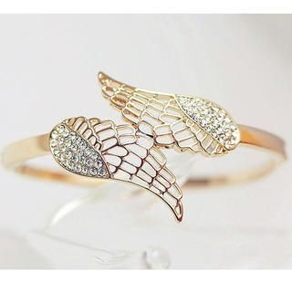 Cuteberry - Rhinestone Wing Bangle