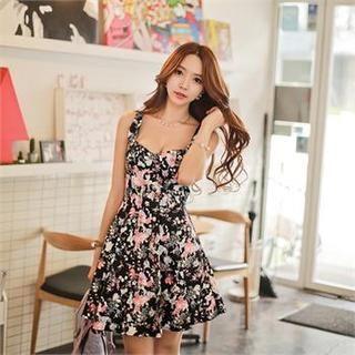 Babi n Pumkin - Sleeveless Floral Print Dress