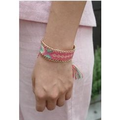 BBORAM - Chain-Trim Embroidered Bracelet
