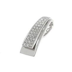 Keleo - 18K White Gold Pendant with Diamonds