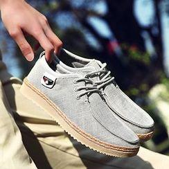 Desert Ram - Linen Blend Boat Shoes