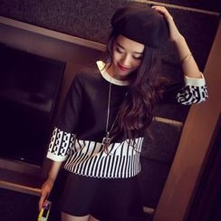 QZ Lady - 3/4-Sleeve Print Top