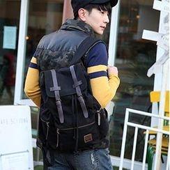 MBaoBao - Buckled Drawstring Backpack