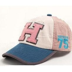 GreatMay - Appliqué Color-Block Baseball Cap