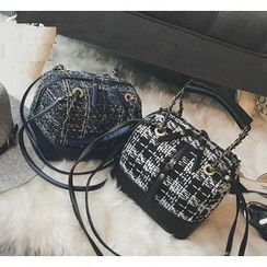 Youshine - Knit Panel Boston Bag