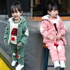 Merry Go Round - Kids Set: Hooded Vest + Printed Sweatshirt + Sweatpants