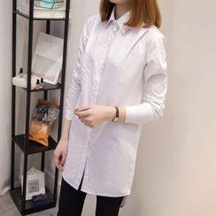 Fashion Street - 純色長襯衫