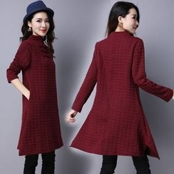 Diosa - Mandarin Collar Long Sleeve Dress