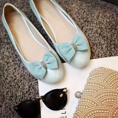 Pastel Pairs - 蝴蝶結飾平跟鞋
