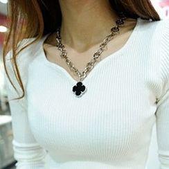 Aiyori - Four-Leaf Clover Chain Necklace