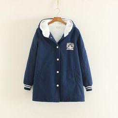 三木社 - 連帽刺繡大衣