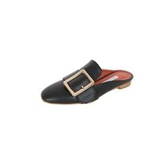 DABAGIRL - Square-Toe Buckled Backless Loafers