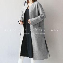 NANING9 - Open-Front Wool Blend Coat