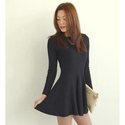 SO Central - Zip-Back A-Line Knit Dress