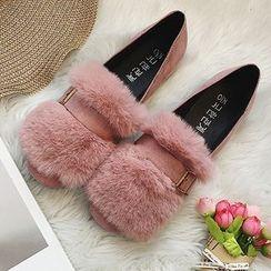 Frivole - Furry Trim Loafers