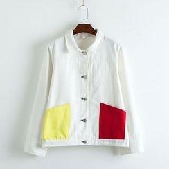 TOJI - Color-Block Button Jacket