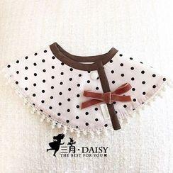 March Daisy - 波點圍嘴假領子口水巾